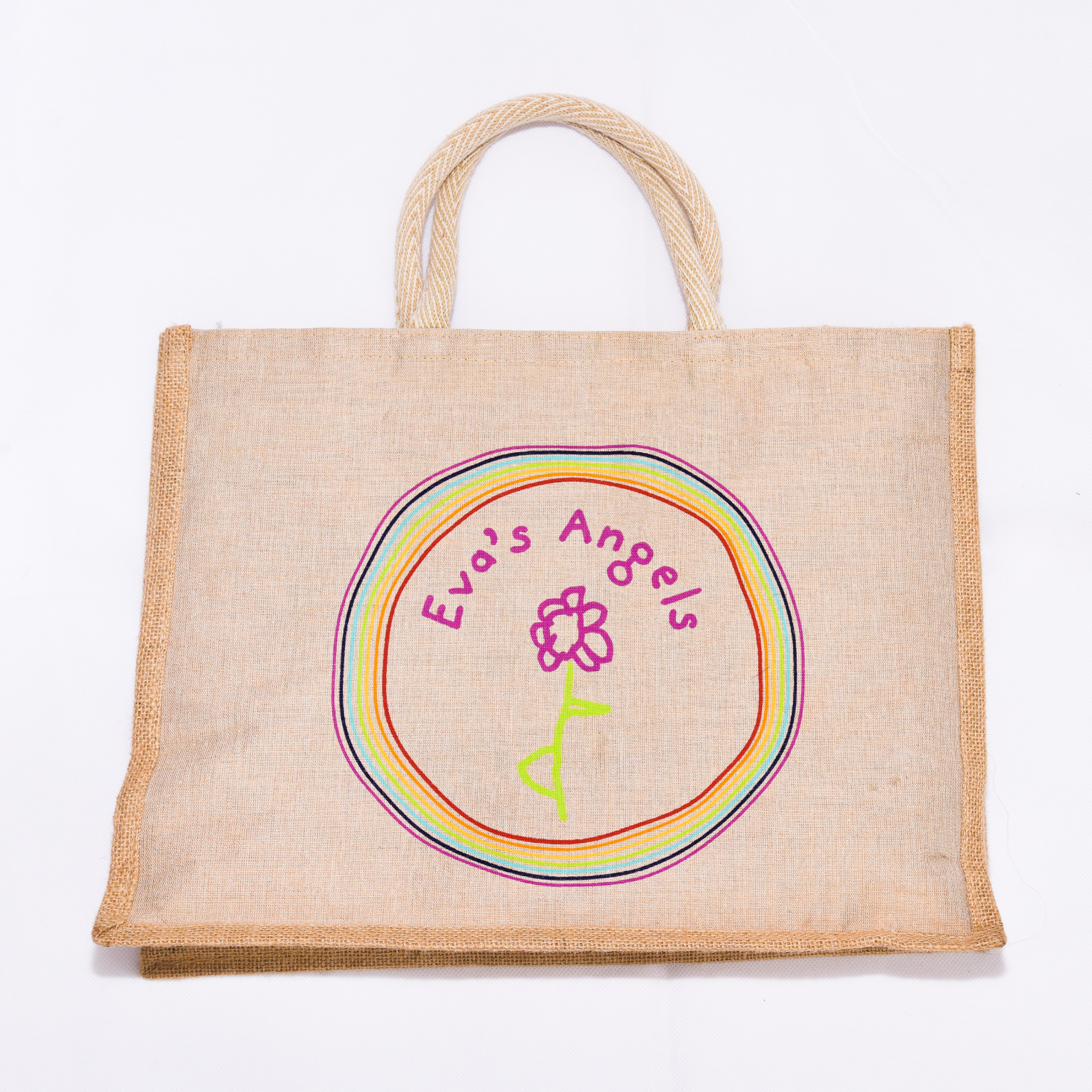 Eva's Angels Natural Jute Shopper